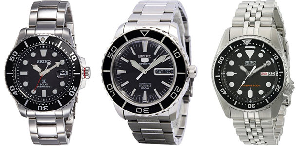 Seiko Solar & Automatik Herren-Armbanduhren Wasserdicht